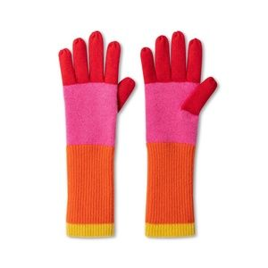 Cashmere Color Block Gloves by Isaac Mizrahi
